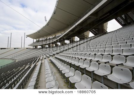 Stadium With Empty Seats