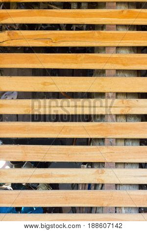 Wooden brown floor background planks or wood texture table with copy space. horizontal strips. vertical photo