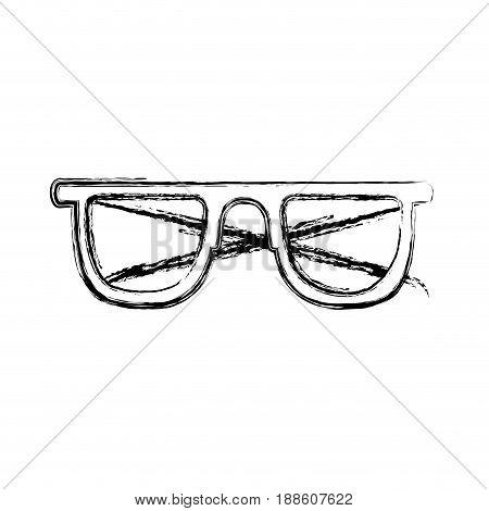 blurred thick silhouette of sunglasses icon vector illustration