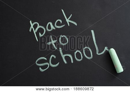 Inscription Back To School On Chalk Blackboard