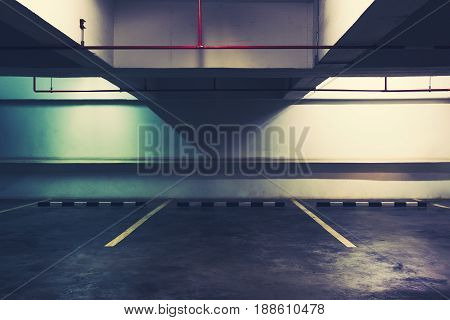 Empty Space in a Parking Tone Cinematic