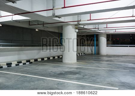 Empty Space in a Parking for background