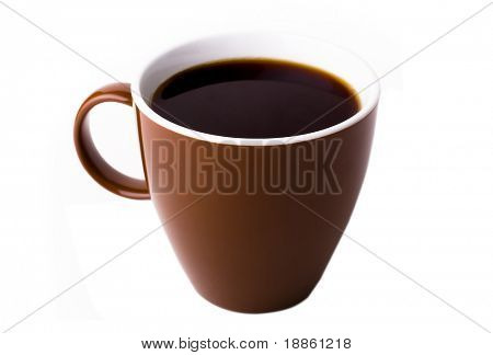 Brown coffee mug isolated on white