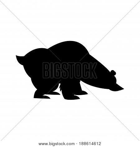 cartoon cute polar bear wild artic vector illustration