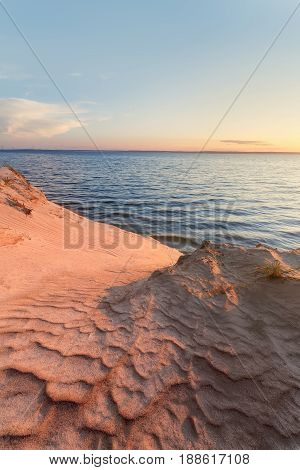 dawn-savage beach / lonely beach in the early autumn