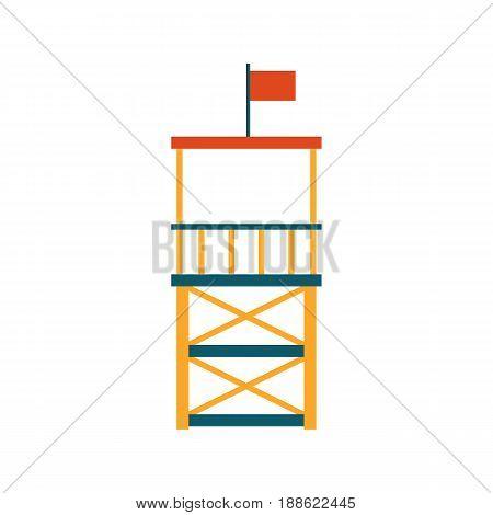 Vector Flat Beach Life Guard Tower