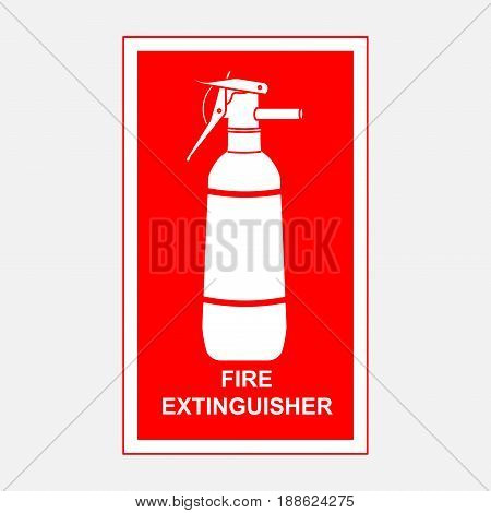 fire extinguisher sign security fire-extinguishing fully editable vector image
