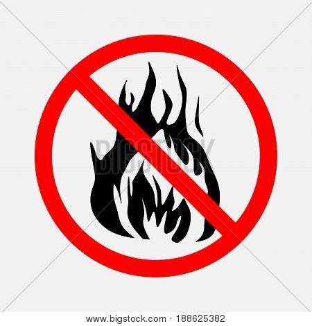 prohibiting sign no fire no smoke prohibitory sign no fire editable vector image