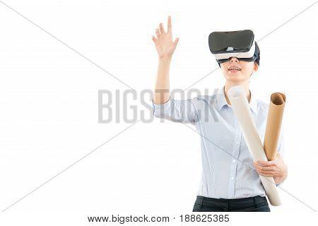 Professional Designer Using Vr Headset