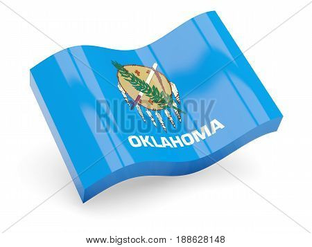 Flag Of Oklahoma, Us State Wave Icon
