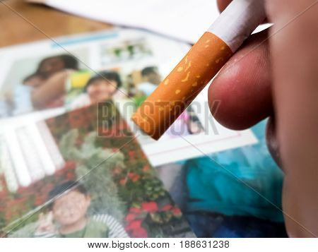 Fight for family the one you loved Encouragement concept World No Tobacco Day 31