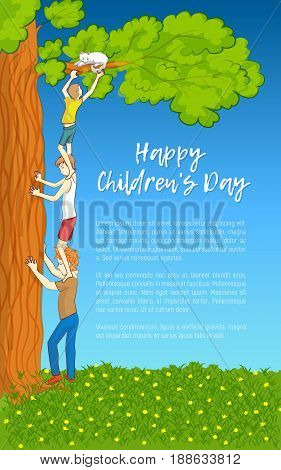 Vector Illustration. Childrens Day