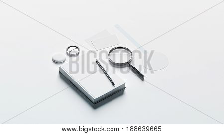 Book publishing office branding design mock up elements 3d rendering. Blank objects mockups bookish store template. Bookshop stationery identity set. Empty wobbler cards pin textbook.