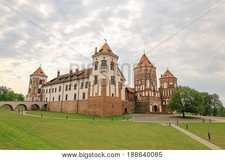 Mir, Belarus - May 20, 2017: Mir Castle In Minsk Region - Historical Heritage Of Belarus. Unesco Wor