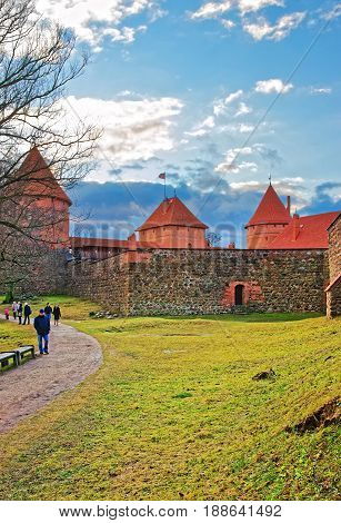 People At Trakai Island Castle Museum At Day Time
