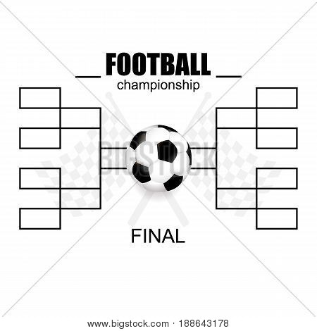 Blank Football Championship. Vector Illustration, Flat Design