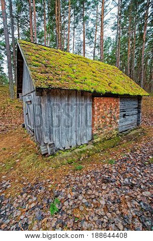 Old Wooden Building In Ethnographic Open Air Village Of Riga