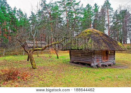 Old Buildings At Ethnographic Open Air Village Of Riga