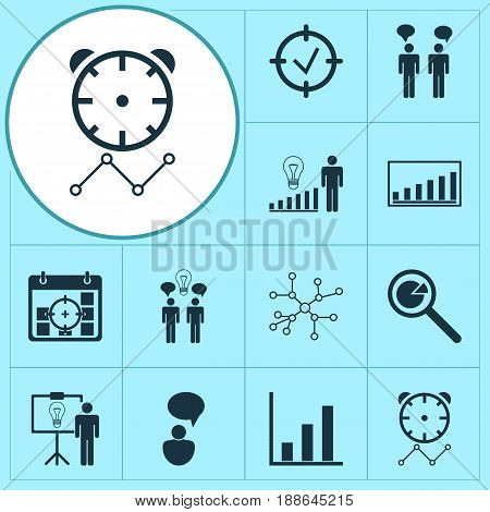 Executive Icons Set. Collection Of Team Meeting, Solution Demonstration, Decision Making And Other Elements. Also Includes Symbols Such As Communication, Timeout, Discussion.