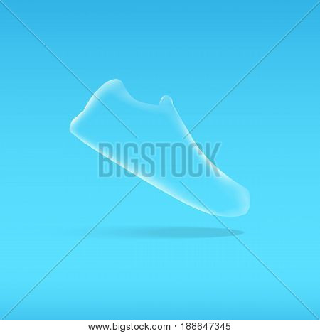 Shoes Design.  Running Shoes. Vector Illustration.  Semi Transparent Sneakers. Sport Shoes.