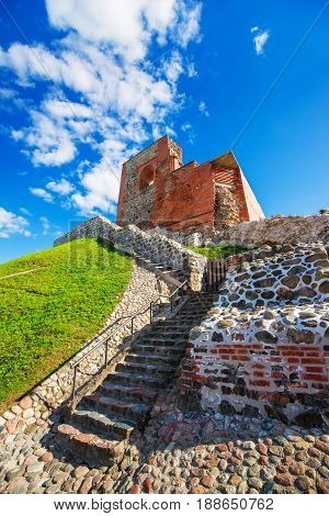Remains Of Castle Complex On Hill In Historical Center Vilnius