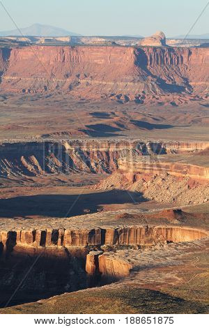 Grand View Point Overlook, white rim, Canyonlands NP