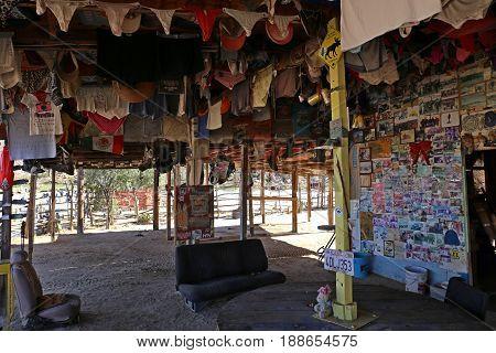 Coco's Corner, a crazy Guy's Home on the Baja California, Mexico, Jan 2014