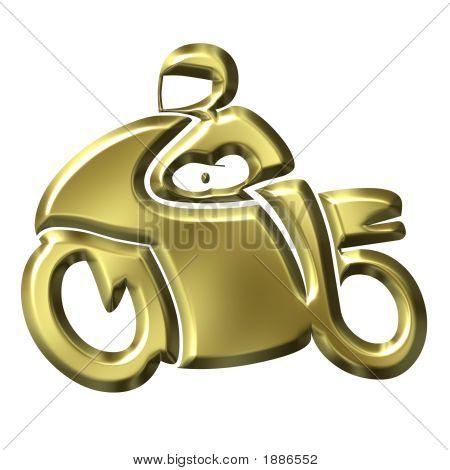 Golden Motorbike