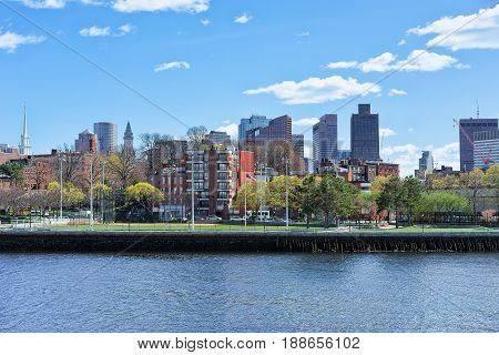 Skyline Of Boston Ma And Waterfront