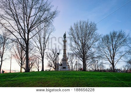 Soldiers And Sailors Monument In Boston Common Ma