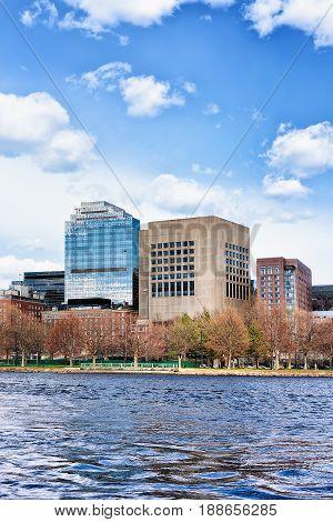 Skyscrapers At Charles River Boston Ma