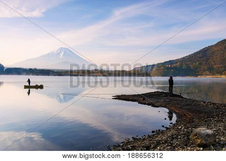 Shoji Lake With Mt. Fuji View