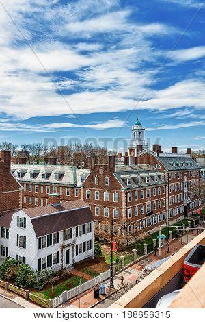 Kennedy Street Harvard University Area In Cambridge Ma Usa