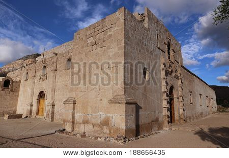 Mission San Francisco de Borja, build at 1762 by the Jesuit Wenceslaus Linck at the Cochimi settlement of Adac.