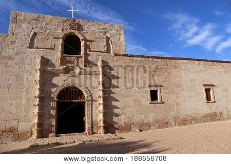 Mission San Francisco de Borja, build at 1762 by the Jesuit Wenceslaus Linck at the Cochim settlement of Adac.