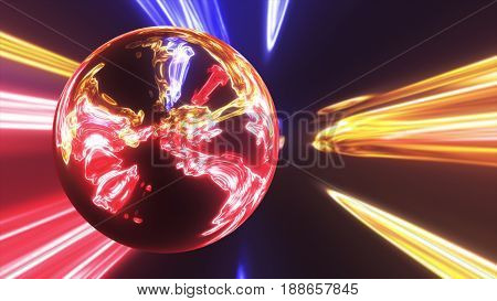 Abstract Ring Background With Luminous Swirling Backdrop. Glowing Spiral. The Energy Flow Tunnel. Sh