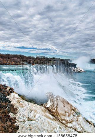 Wonderful Niagara Falls Usa In Spring