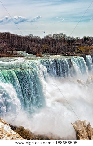 Wonderful Niagara Falls Usa Early Spring Time