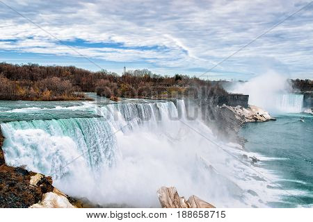 Niagara Falls Usa Early Springtime