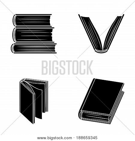 Various kinds of books. Books set collection icons in black style vector symbol stock illustration .