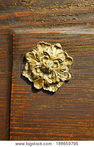 Abstract  House Door    In Italy   Flower  Column  The Milano Old