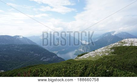 Landscape and Mountain with lake view, Hallstatt Austria