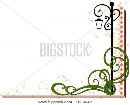 Lamp Post Decorative Flourish