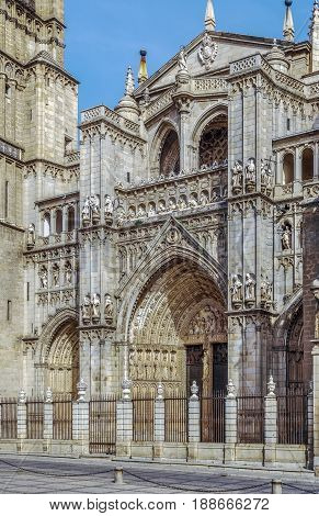 Primate Cathedral of Saint Mary of Toledo is a Roman Catholic cathedral in Toledo Spain. Portal