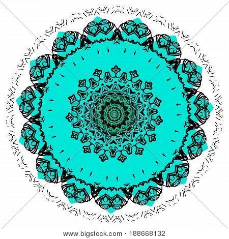 Colorful Mandala On The White Background.