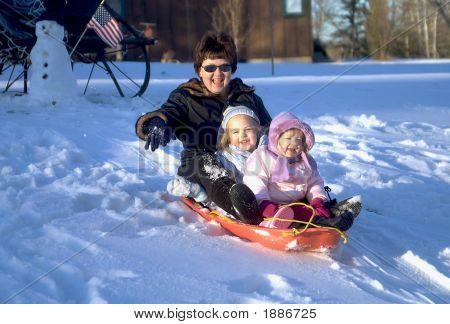 Grandma Goes Sliding