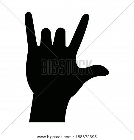 hand in rock n roll sign, man hand rock gesture vector illustration