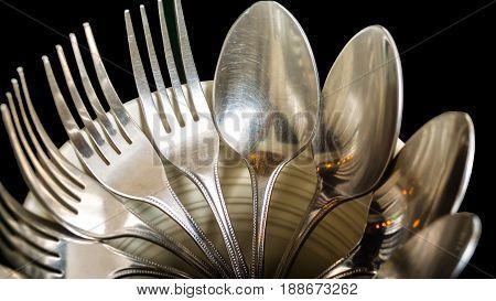 the spoon knife folk in the bucket