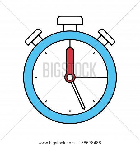 color sectors silhouette of stopwatch icon vector illustration