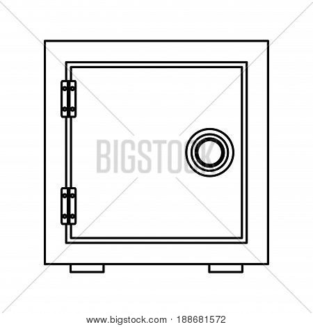 security concept with metal closed box bank safe money vector illustration